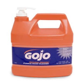 Orange Gojo hand cleaner