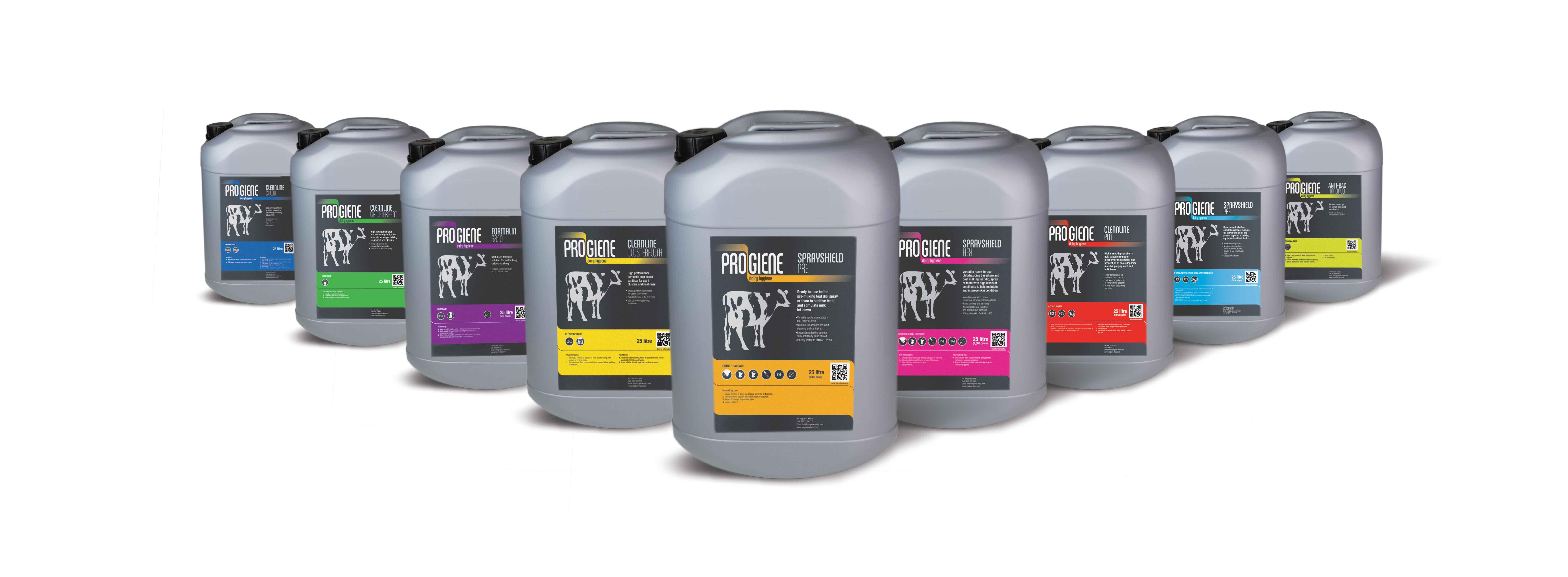Progiene dairy hygiene products