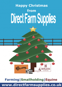 Christmas greeting from direct farm supplies