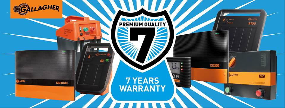 Gallagher seven year warranty