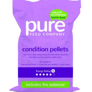 Pure feeds conditioning pellets